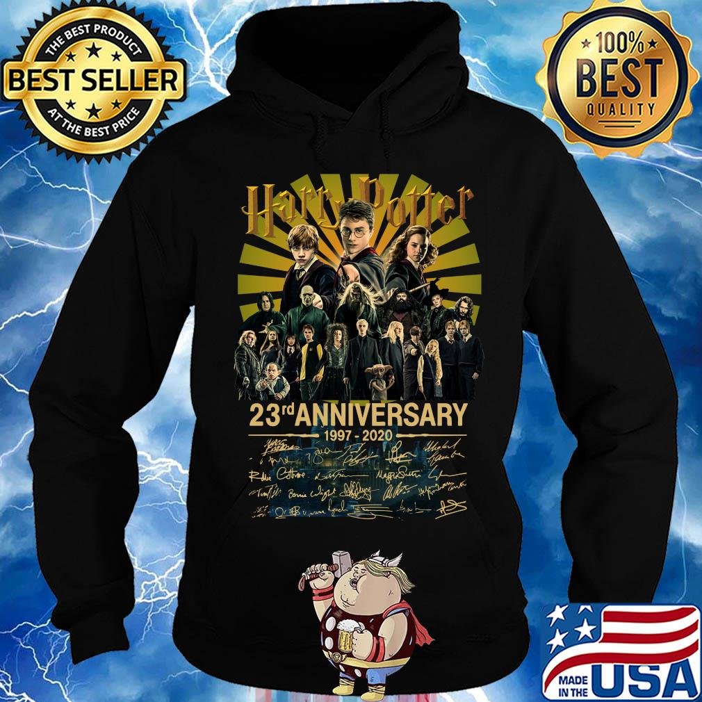 Harry potter 23rd anniversary 19972020 all character signatures s Hoodie
