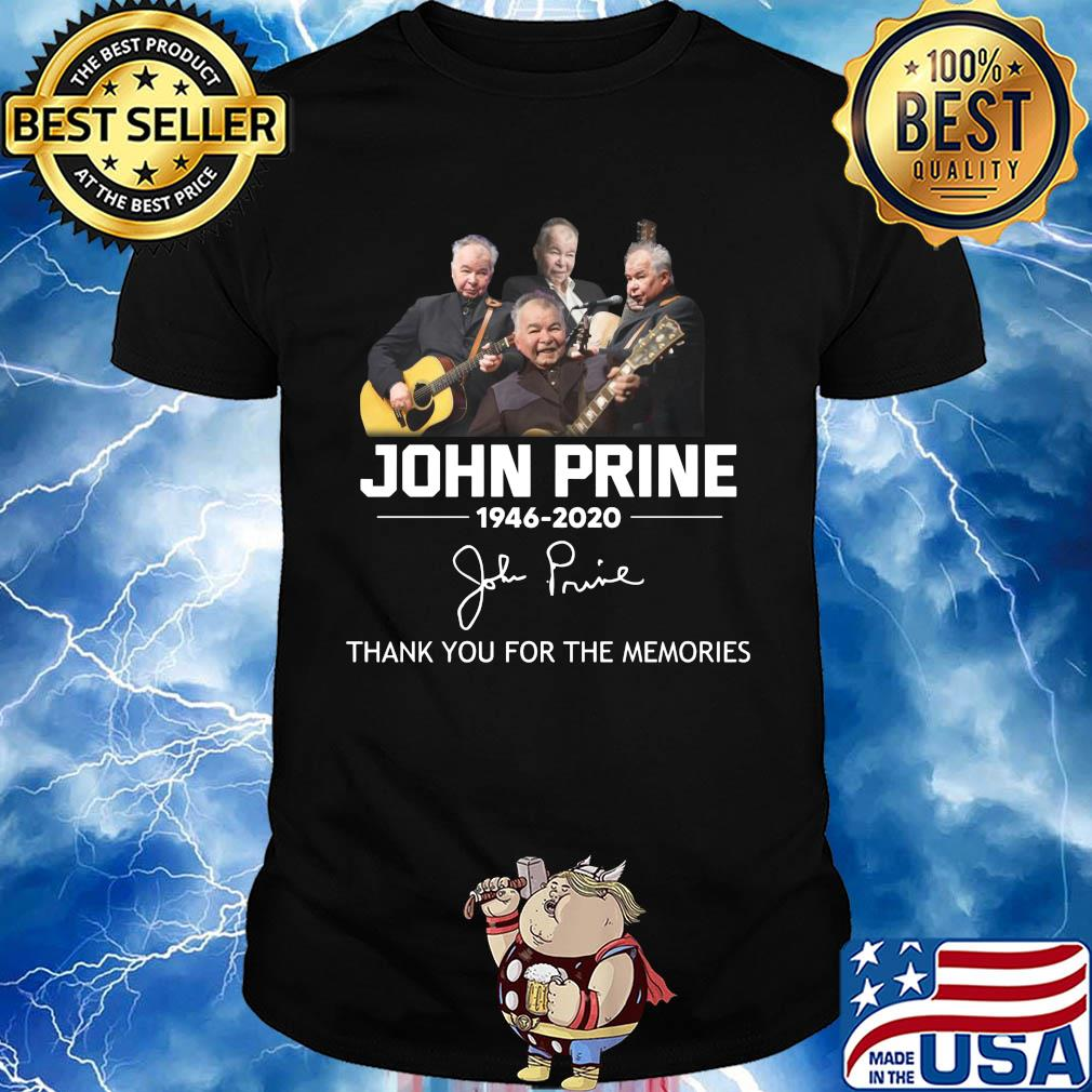 John prine 1946-2020 sigature thank you for the memories shirt