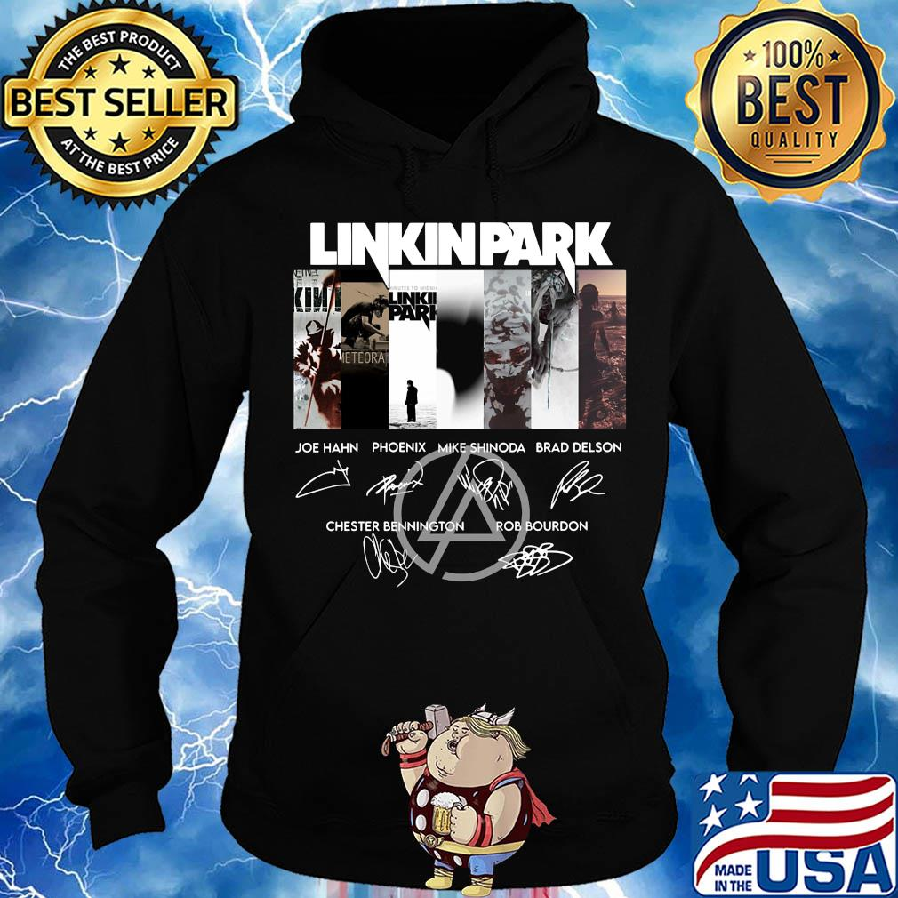 Linkinpark logo joe hahn phoenix mike shinoda brad delson chester bennington rob bourdon signatures s Hoodie