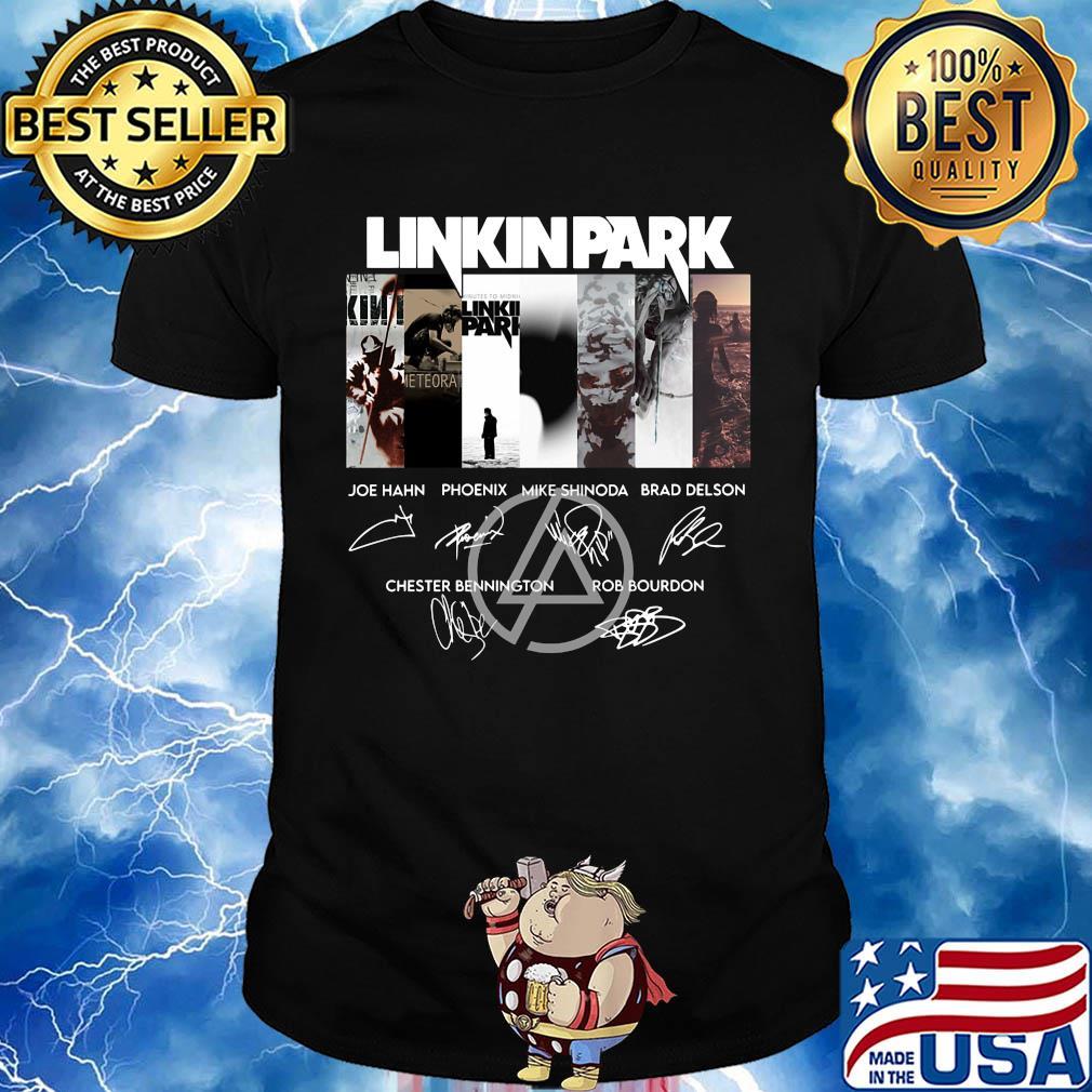 Linkinpark logo joe hahn phoenix mike shinoda brad delson chester bennington rob bourdon signatures shirt