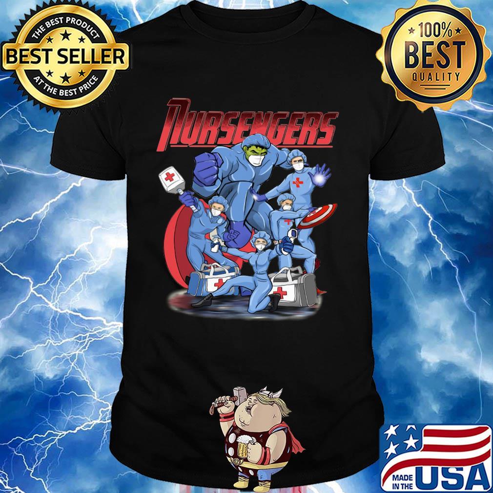 Nursengers hulk thor wonder woman caption shirt