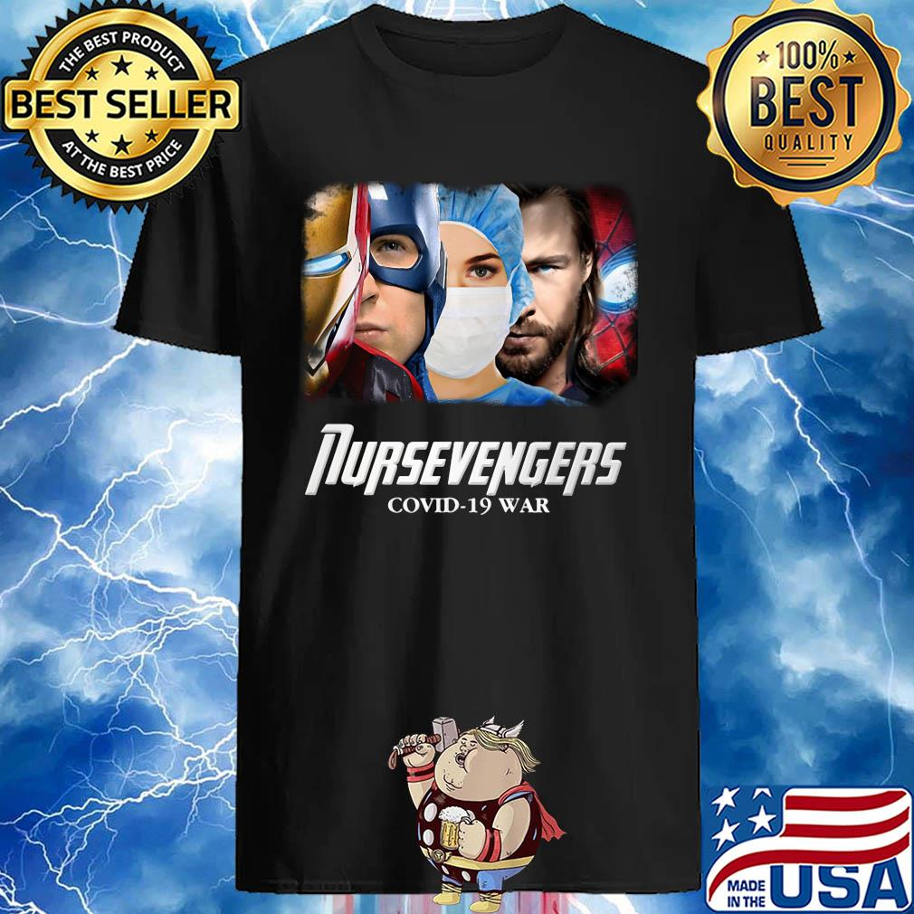 Nursevengers Covid-19 War Iron Man Captain America Nurse Dark World and Spider Man shirt