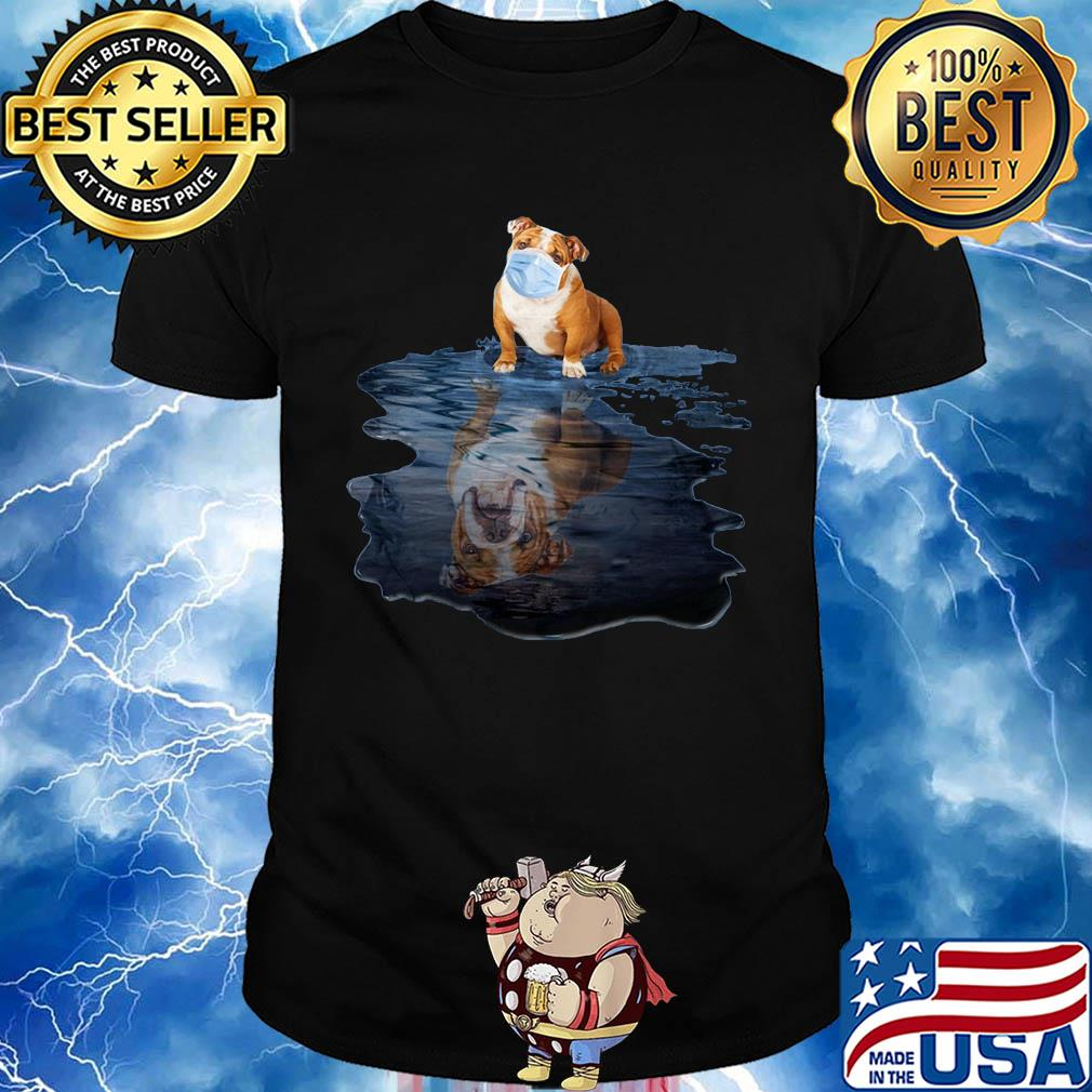 Pug dogs mask mirror water shirt