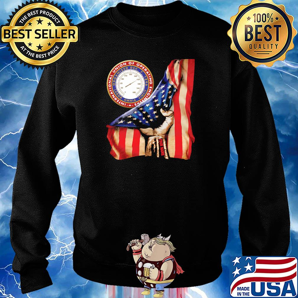 Union Of Operating Engineers International American Flag Personalized Your Name s 17