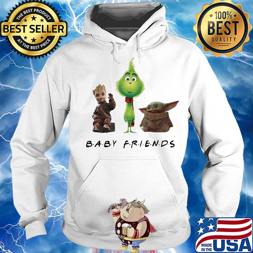 Baby groot grinch and baby yoda baby friends s Hoodie