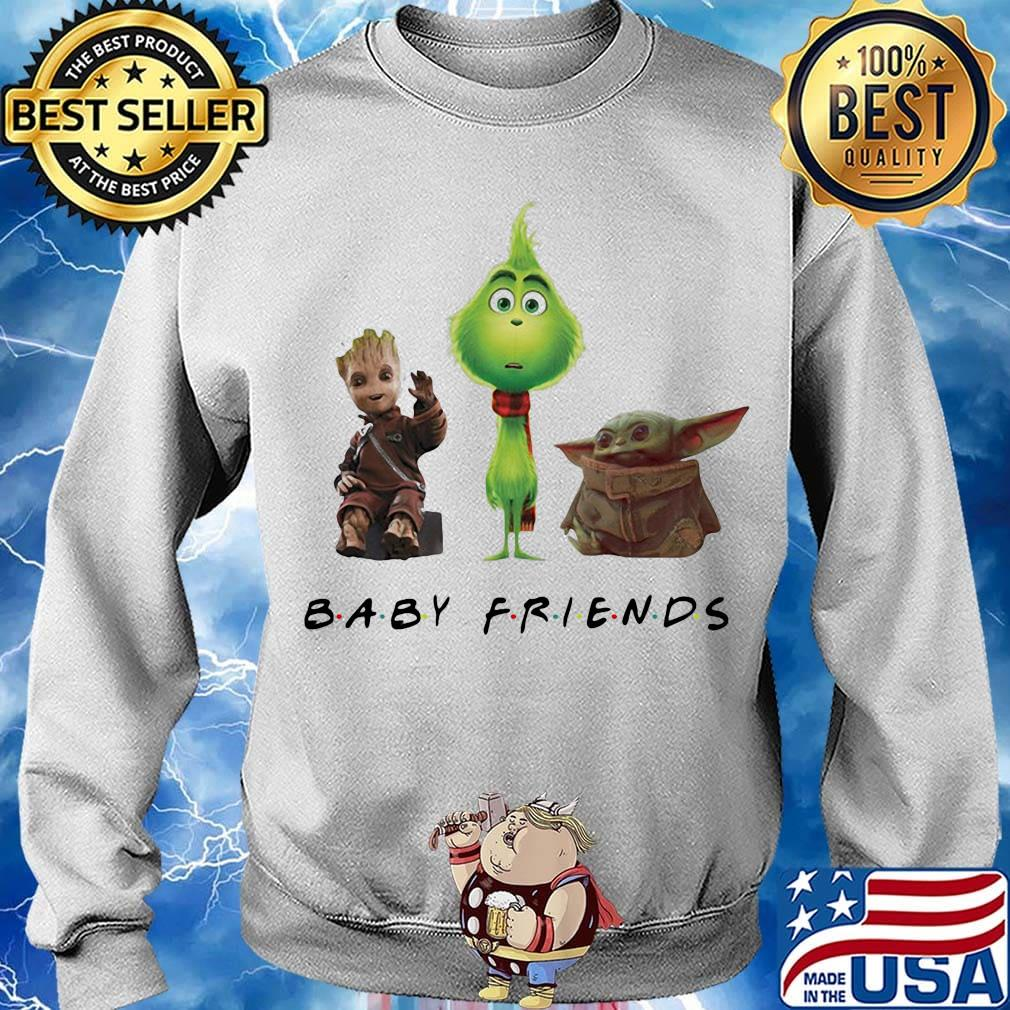 Baby groot grinch and baby yoda baby friends s Sweater