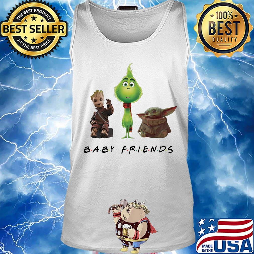 Baby groot grinch and baby yoda baby friends s Tank top