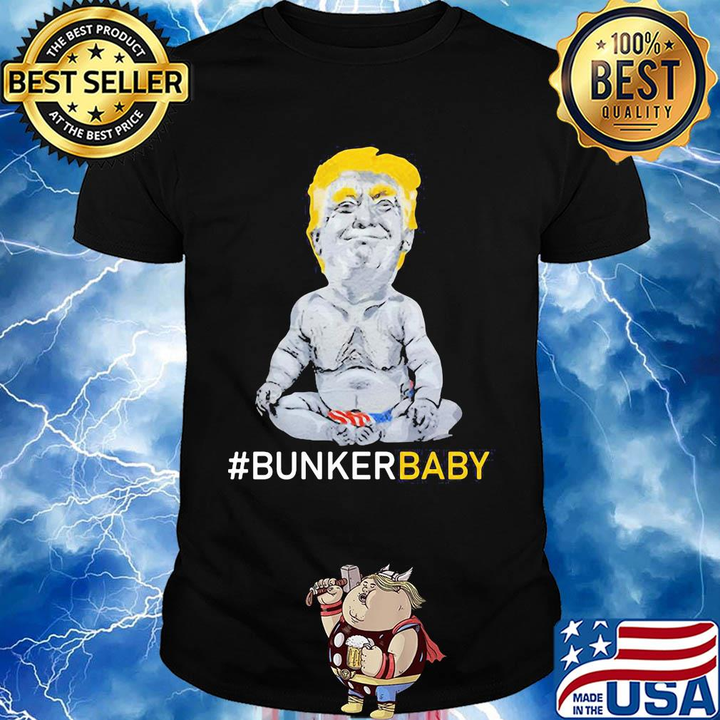 Donald trump bunker baby american flag independence day shirt ...