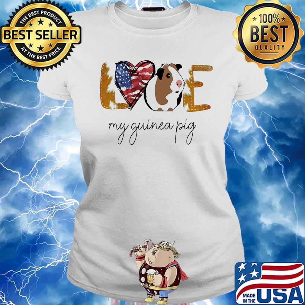Guinea Pig Heart Raglan 3//4 Sleeve T-Shirt for Girls Boys