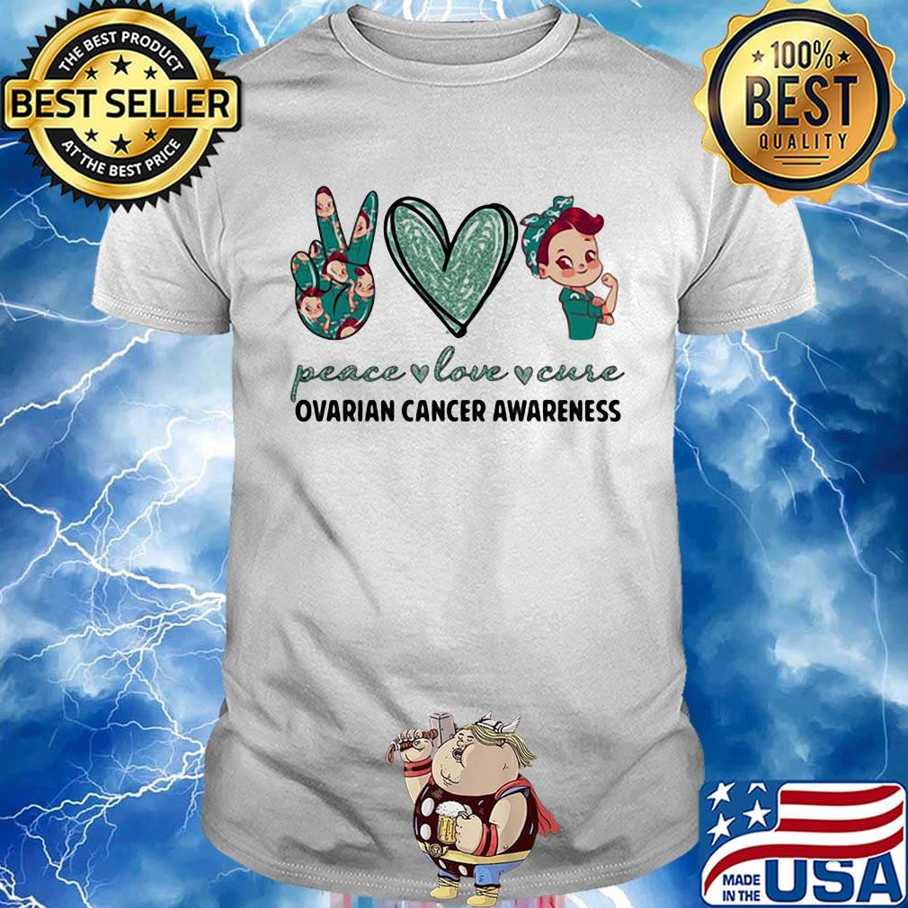 Teenagers Teen Girls Ovarian Cancer Awareness Printed Long Sleeve 100/% Cotton Clothes