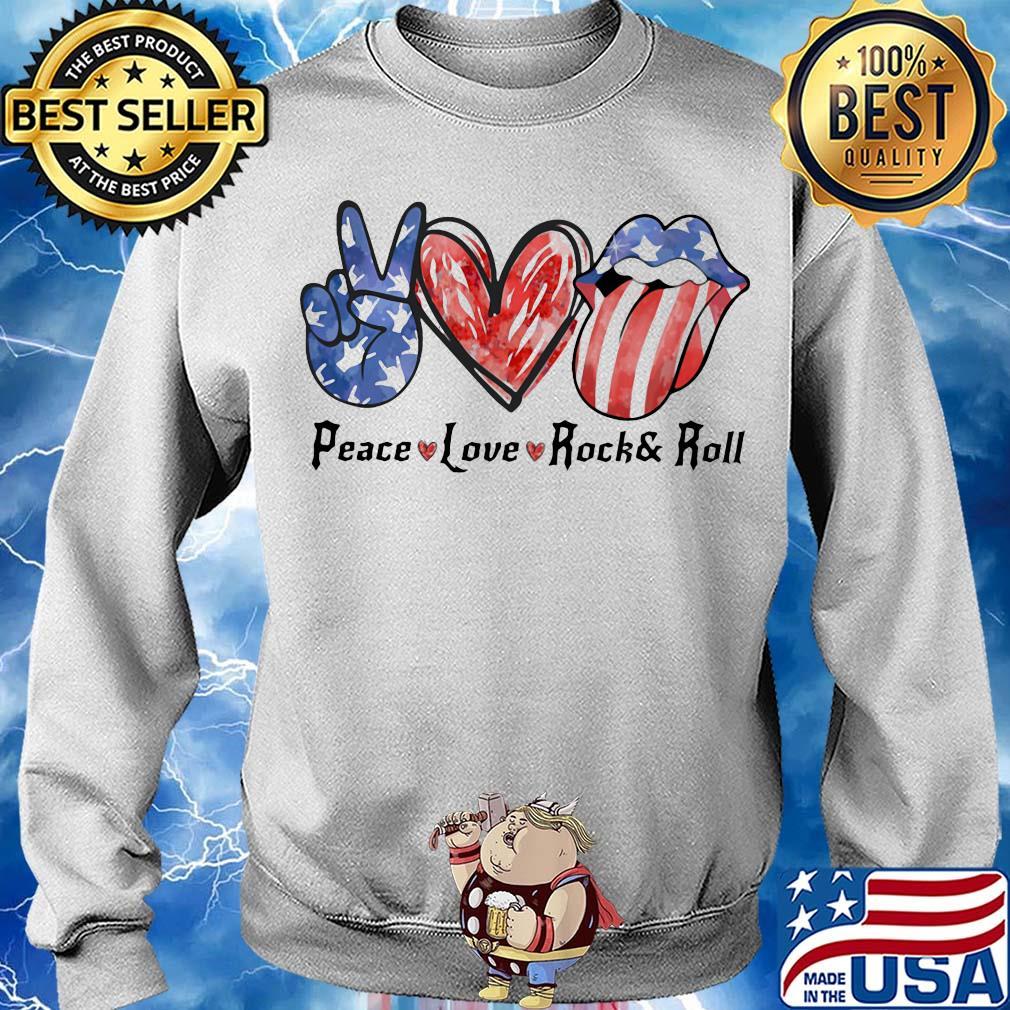 Love /& Rockn Roll Patterns Print Athletic Pullover Tops Fashion Sweatshirts Boys Peace