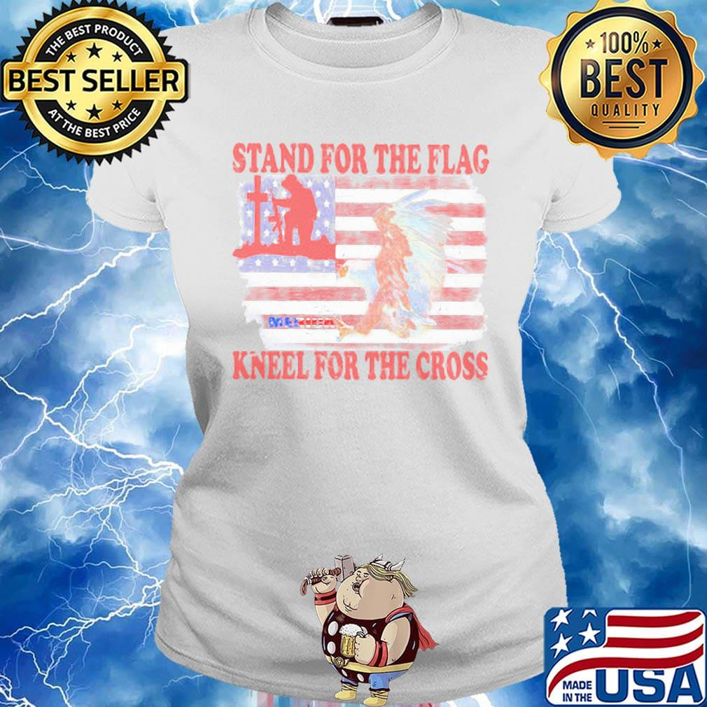 Stand for The Flag and Kneel for The Cross Cotton Infant Girl Shirt Short Sleeve