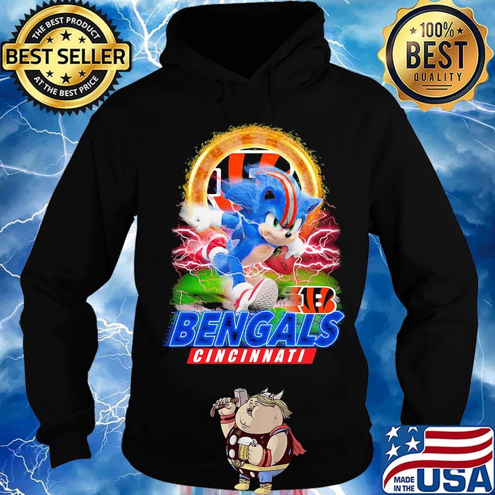 Ultra Sonic The Hedgehog Playing Rugby Football Cincinnati Bengals Shirt Hoodie Sweater Long Sleeve And Tank Top