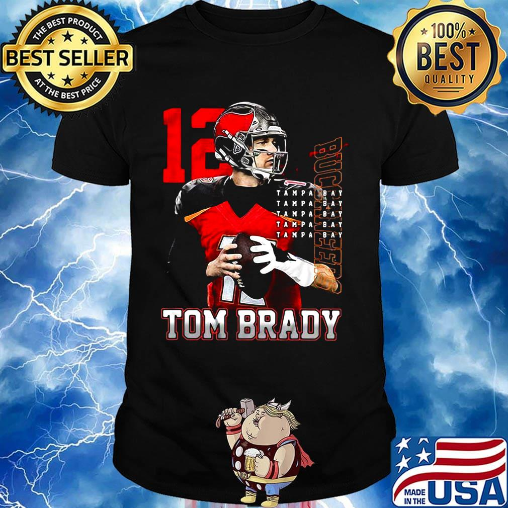 12 Tom Brady Tampa Bay Buccaneers Shirt Hoodie Sweater Long Sleeve And Tank Top