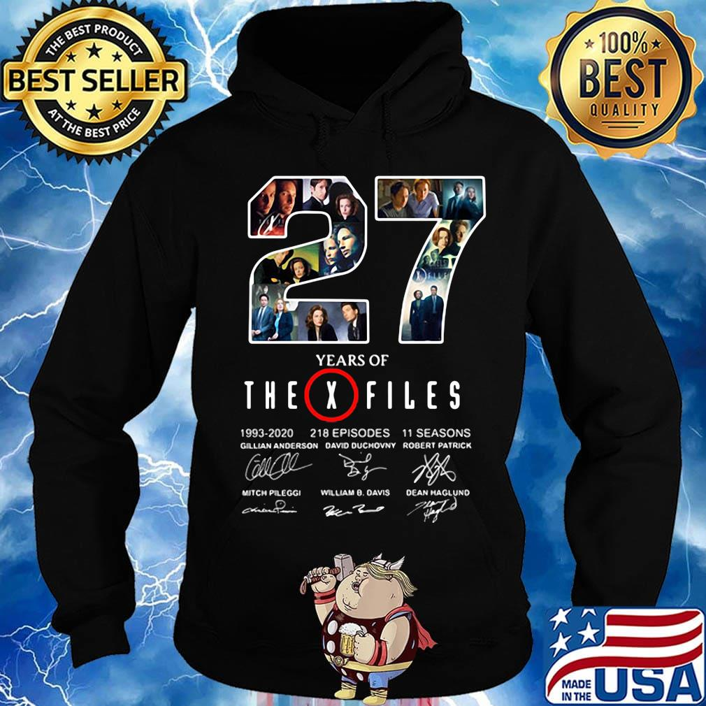 27 years of the x files 1993 2020 218 episodes 11 seasons signatures s Hoodie