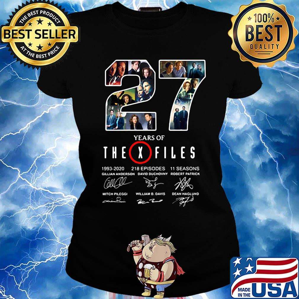 27 years of the x files 1993 2020 218 episodes 11 seasons signatures s Ladies tee
