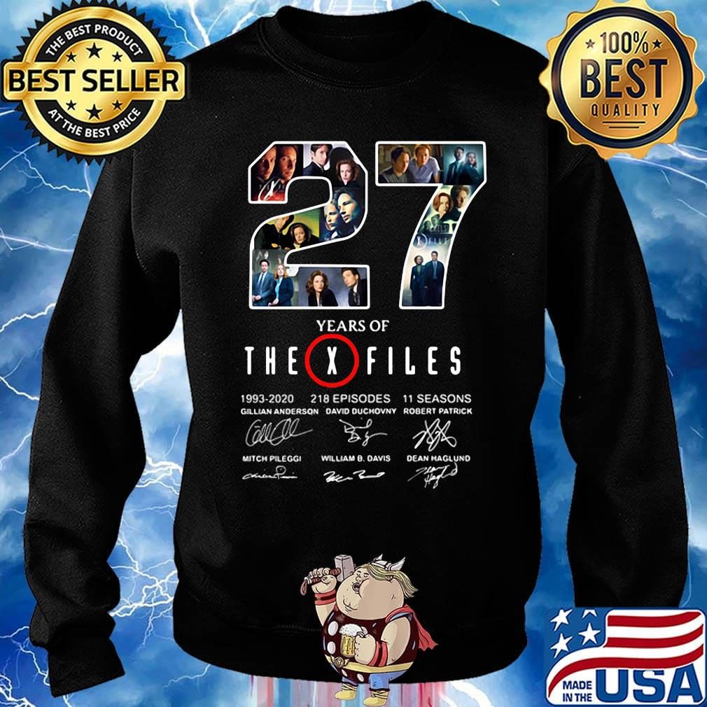 27 years of the x files 1993 2020 218 episodes 11 seasons signatures s Sweater