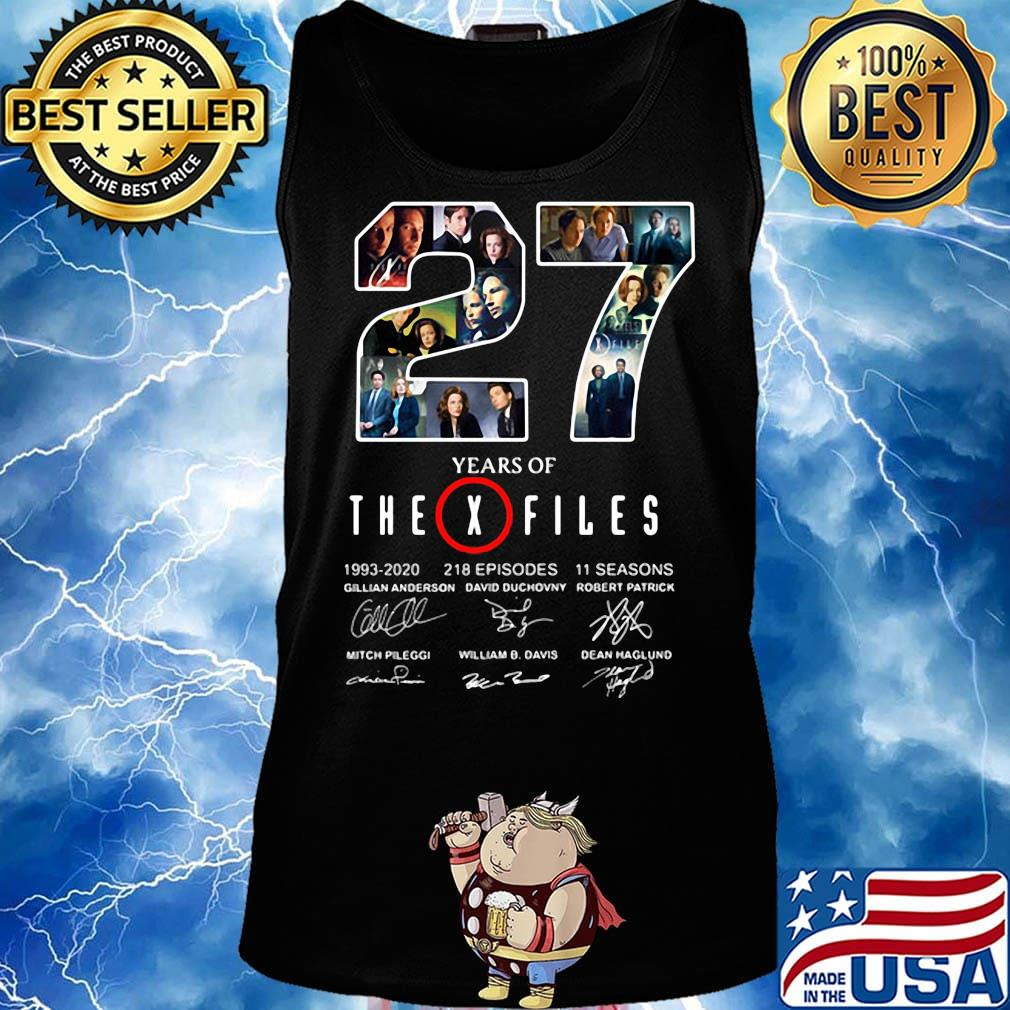27 years of the x files 1993 2020 218 episodes 11 seasons signatures s Tank top