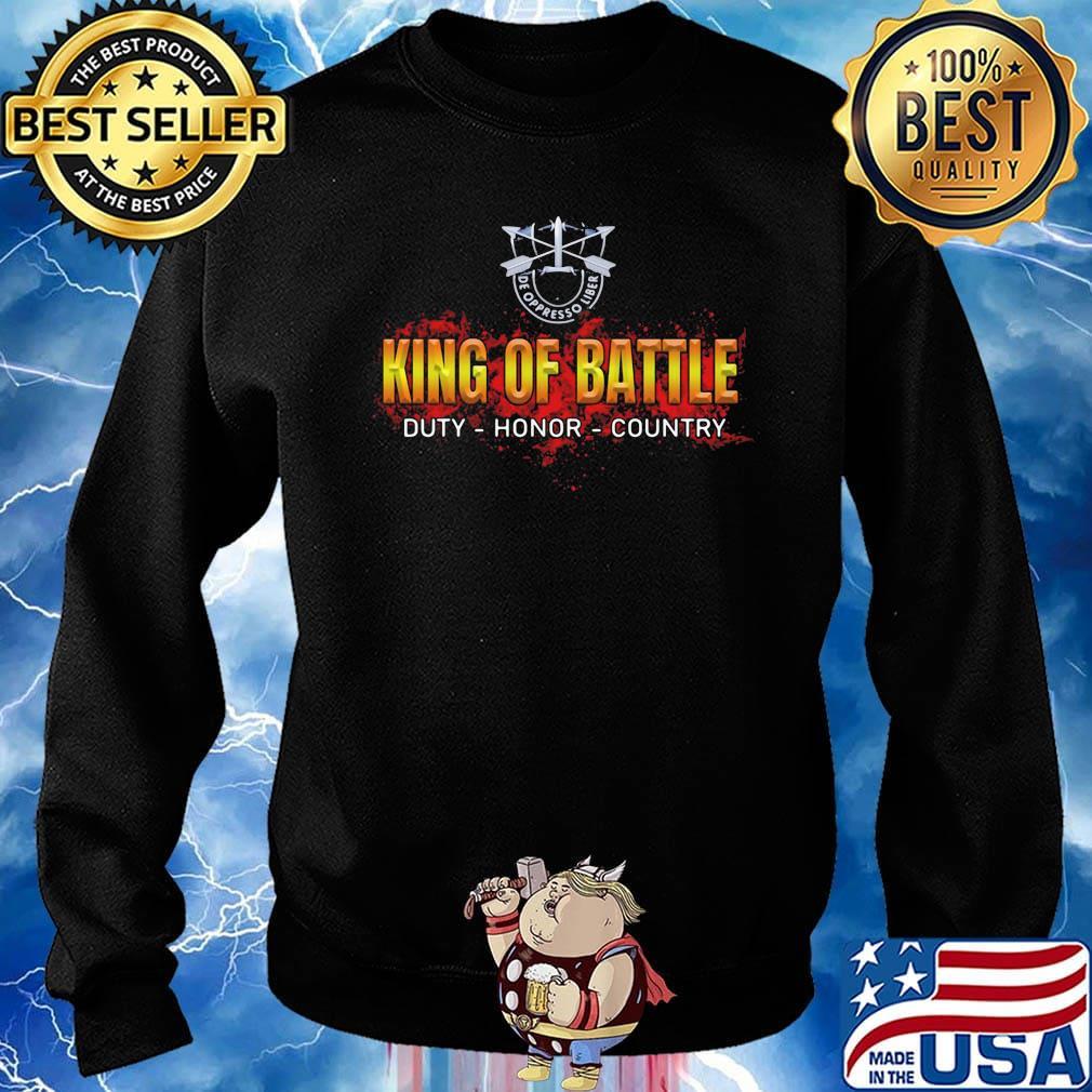 De oppresso liber king of battle duty honor country s Sweater