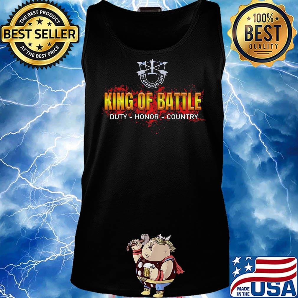 De oppresso liber king of battle duty honor country s Tank top