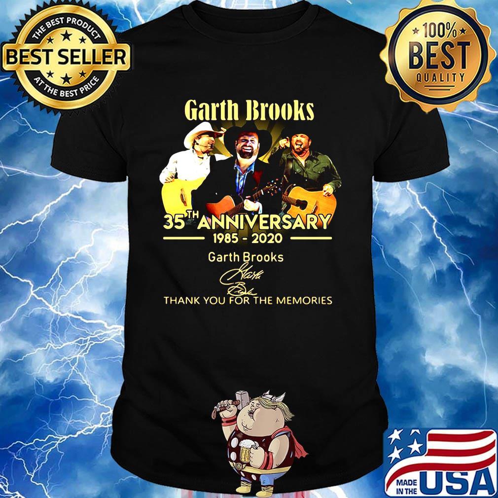 Garth brooks 35th anniversary 1985 2020 thank you for the memories signature shirt, hoodie ...