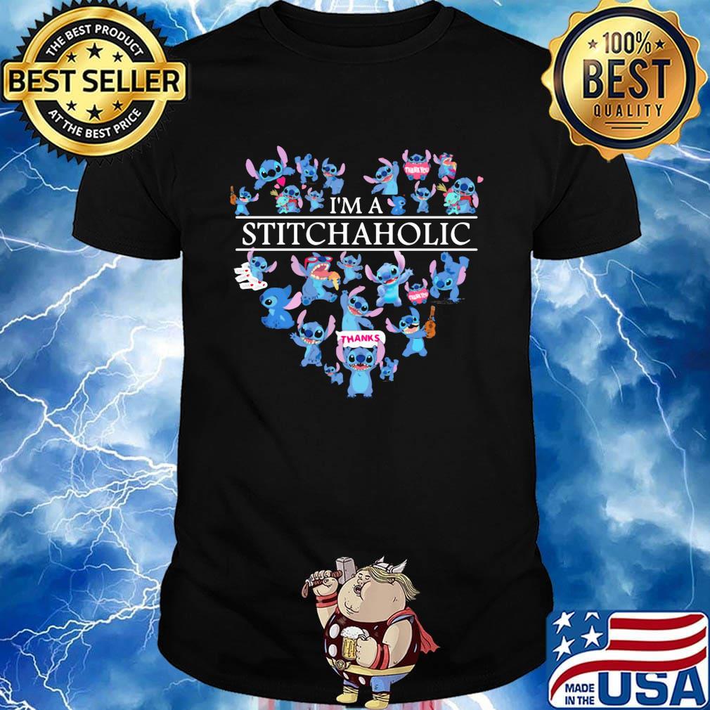I'm a stitch aholic heart shirt
