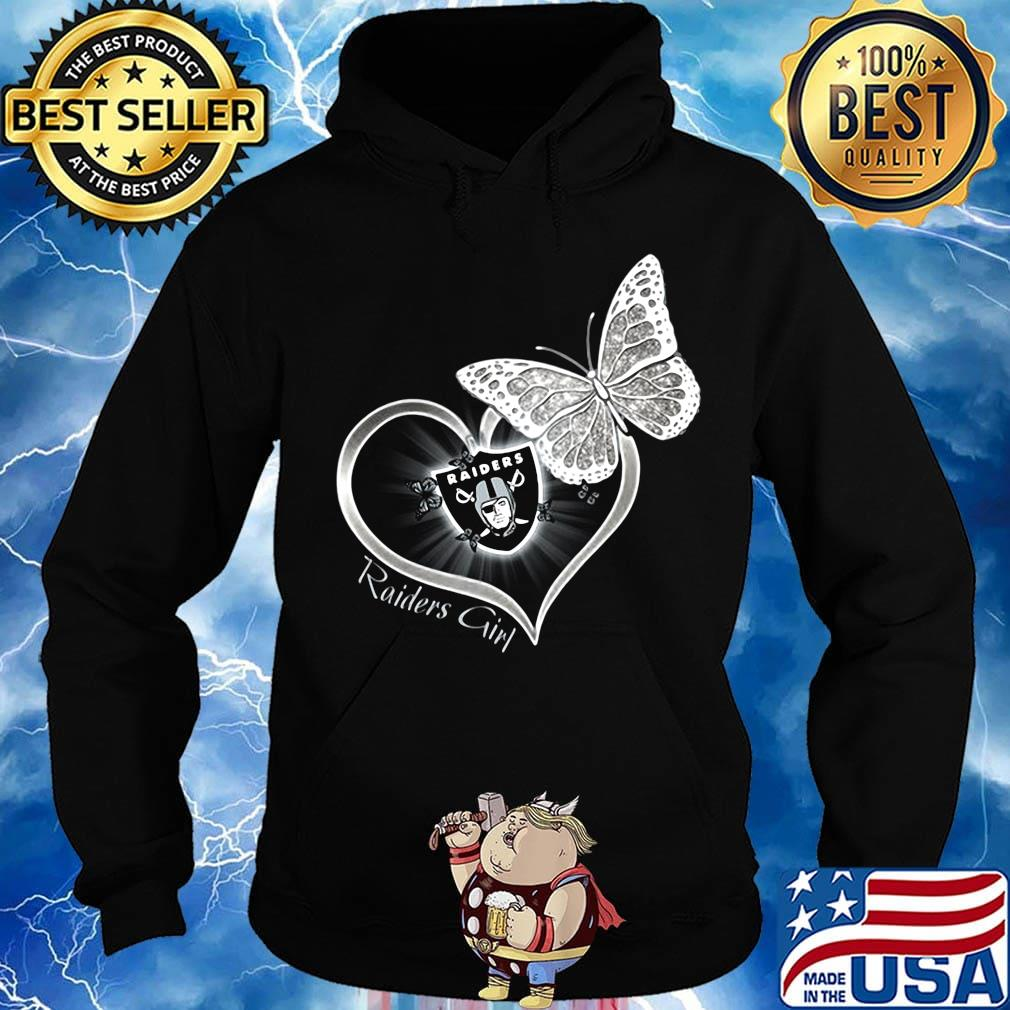 Raiders girl love butterfly s Hoodie