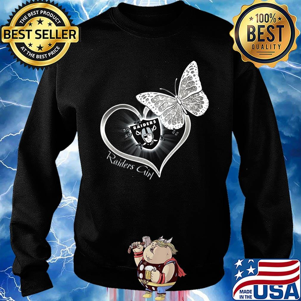 Raiders girl love butterfly s Sweater