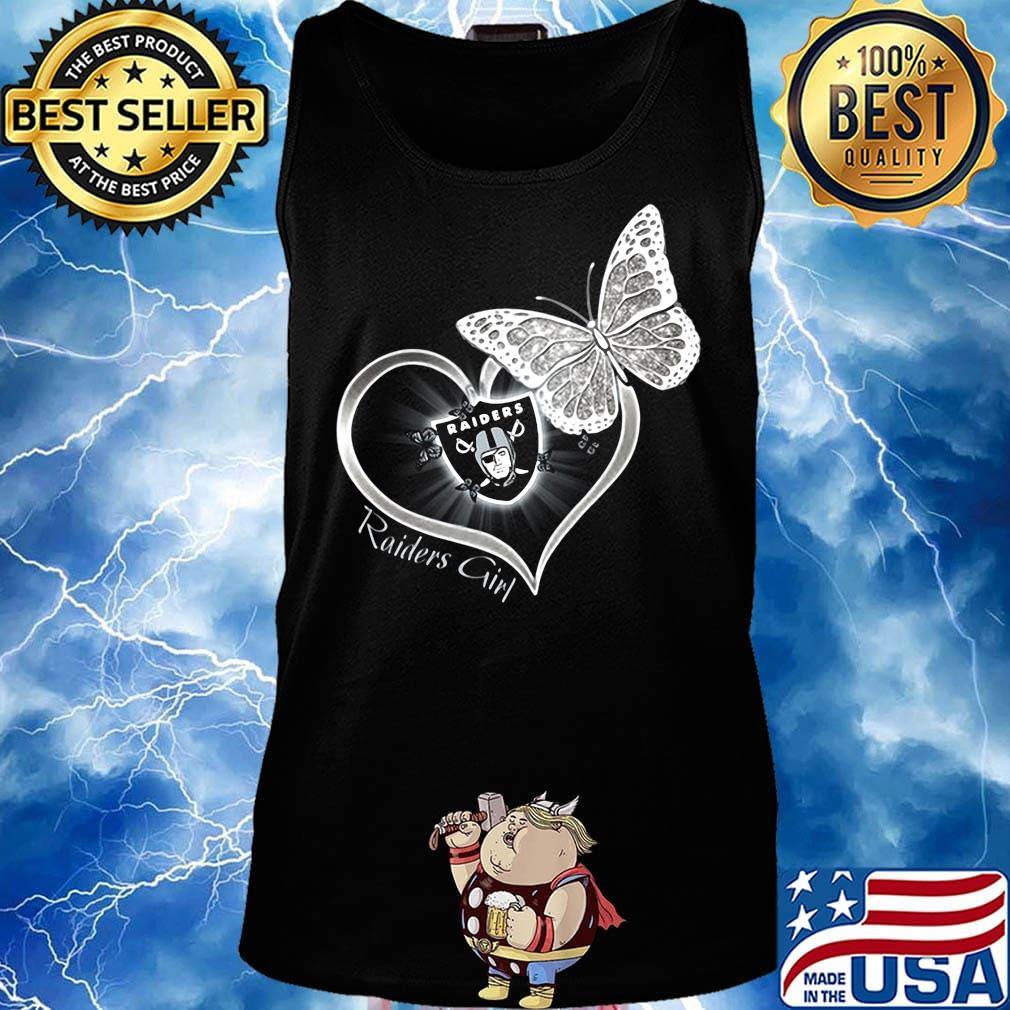 Raiders girl love butterfly s Tank top