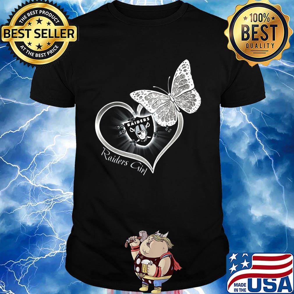 Raiders girl love butterfly shirt