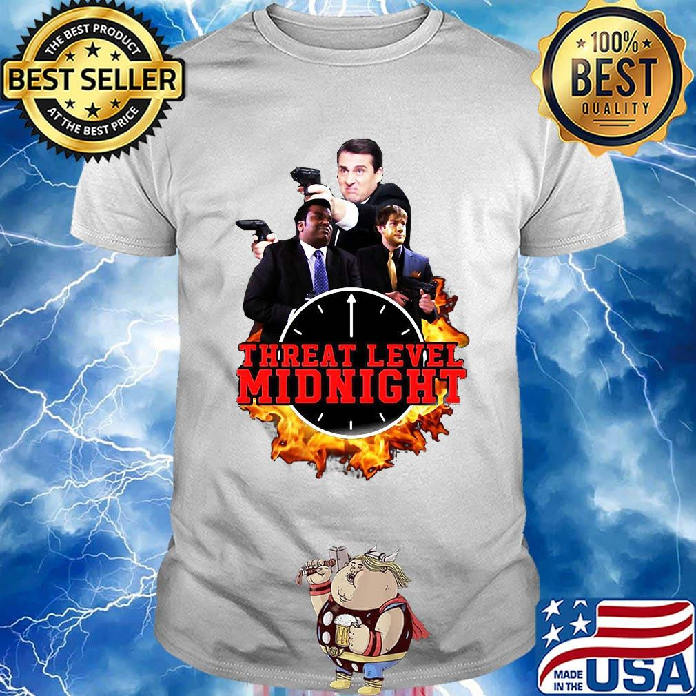 Threat level midnight movie characters shirt