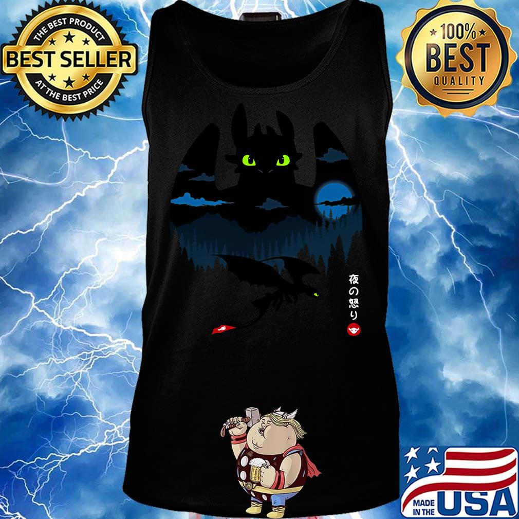 Toothless Dragon Night Japanese Shirt Hoodie Sweater Long Sleeve And Tank Top