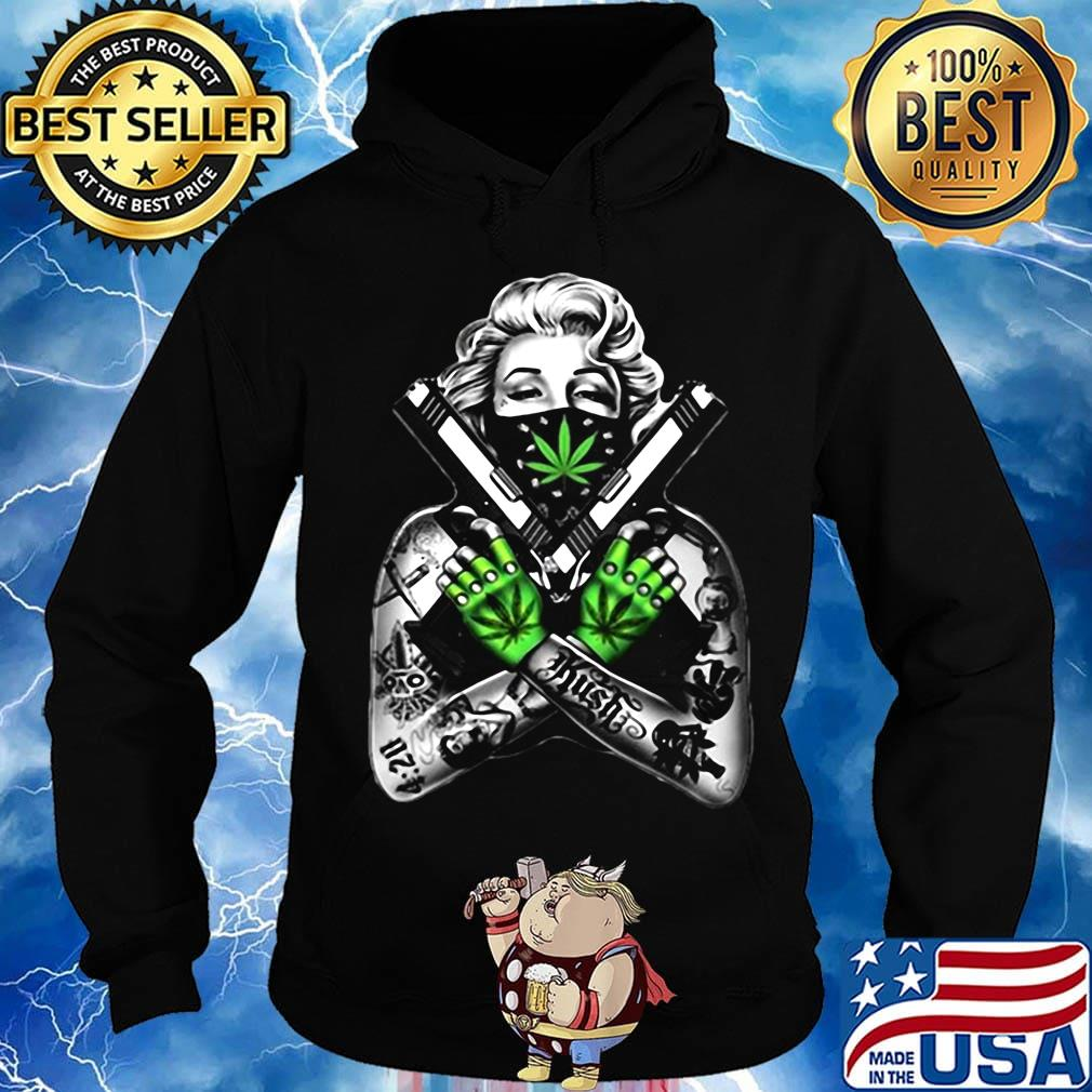 Weed dolly parton tattoos gun s Hoodie
