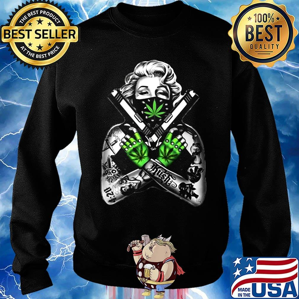 Weed dolly parton tattoos gun s Sweater