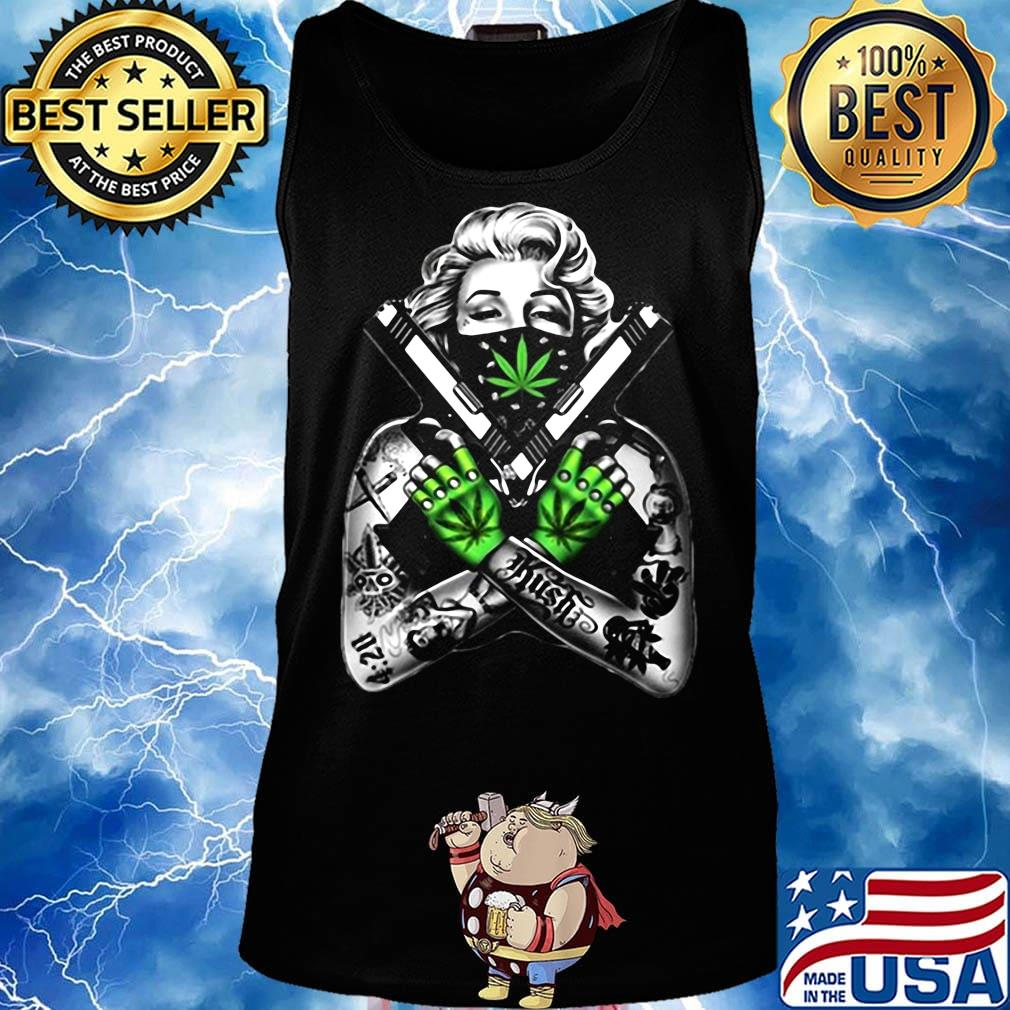 Weed dolly parton tattoos gun s Tank top