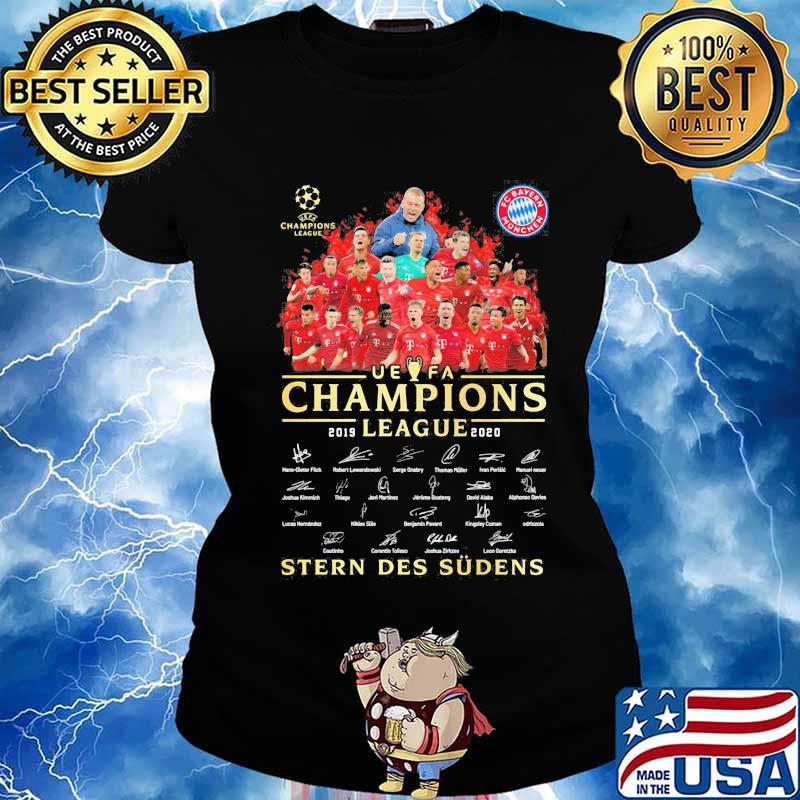 fc bayern munchen uefa champions league 2019 2020 stern des sudens signatures shirt hoodie sweater long sleeve and tank top thorshirts