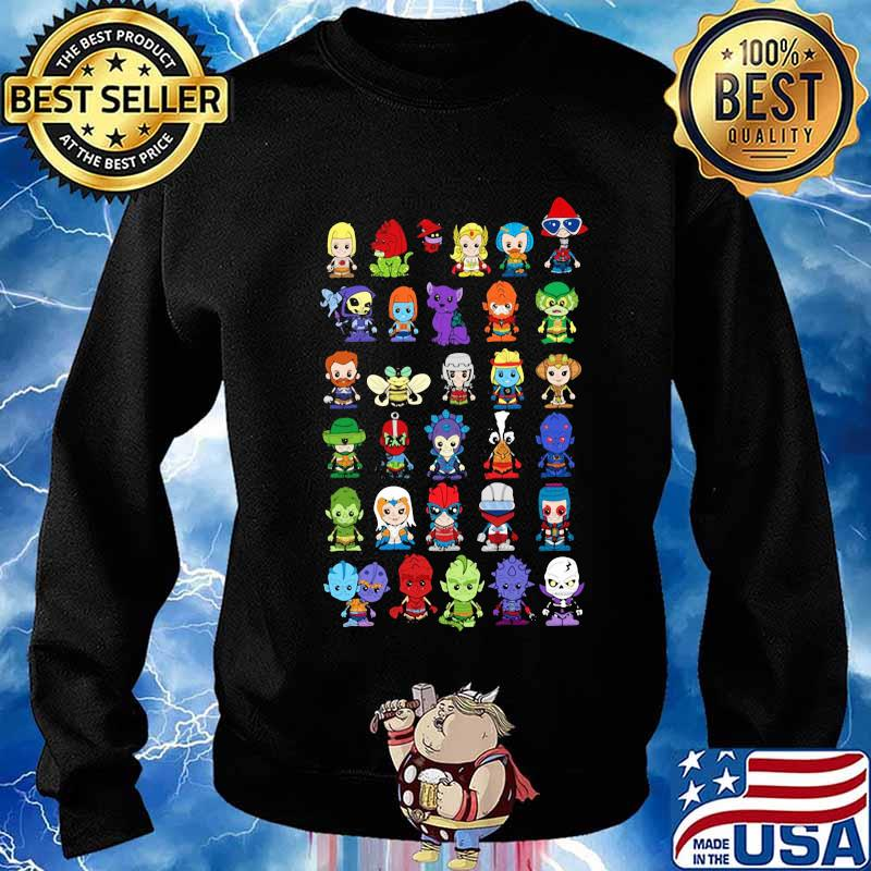 Happy halloween characters cartoon s Sweater