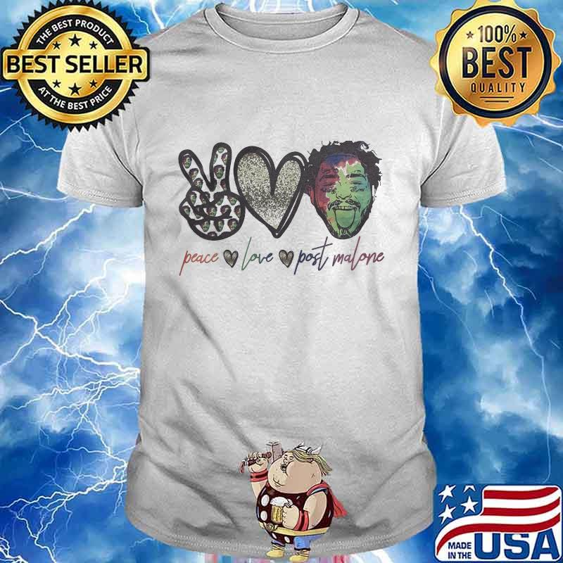 Official-Peace Love-Post-Malone-Shirt