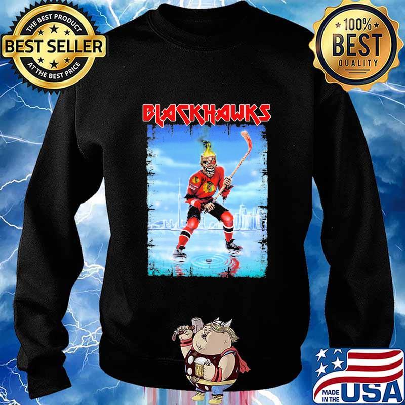 skeleton blackhawks jersey