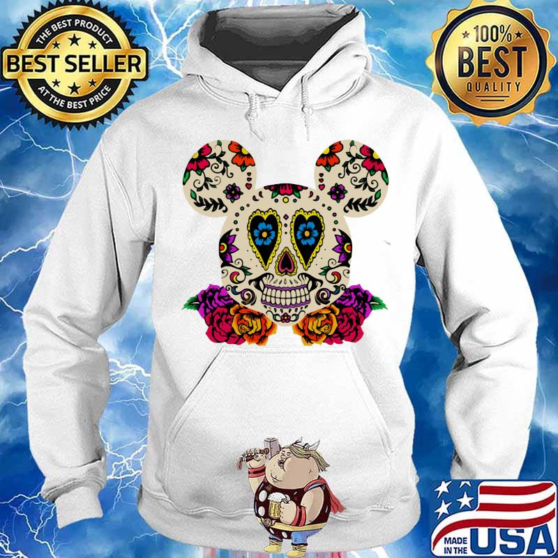 Sugar mickey mouse witch flowers s Hoodie