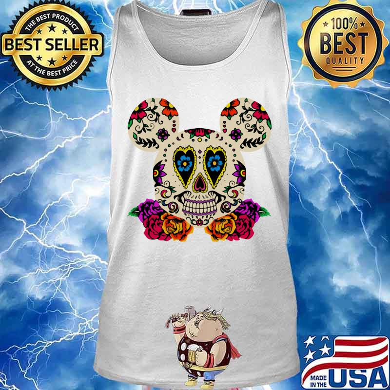 Sugar mickey mouse witch flowers s Tank top