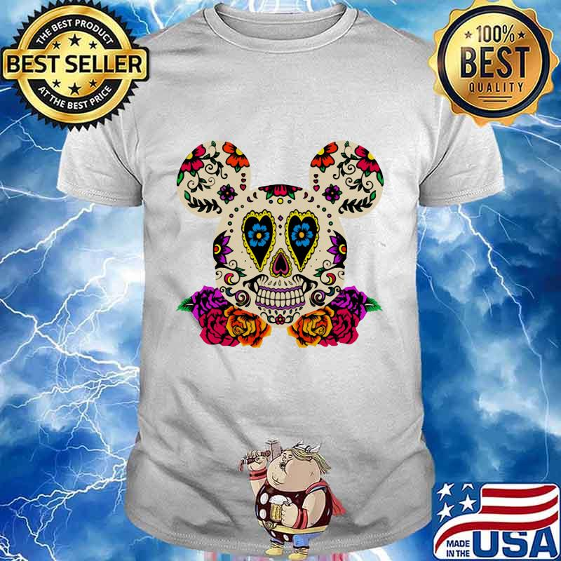 Sugar mickey mouse witch flowers shirt