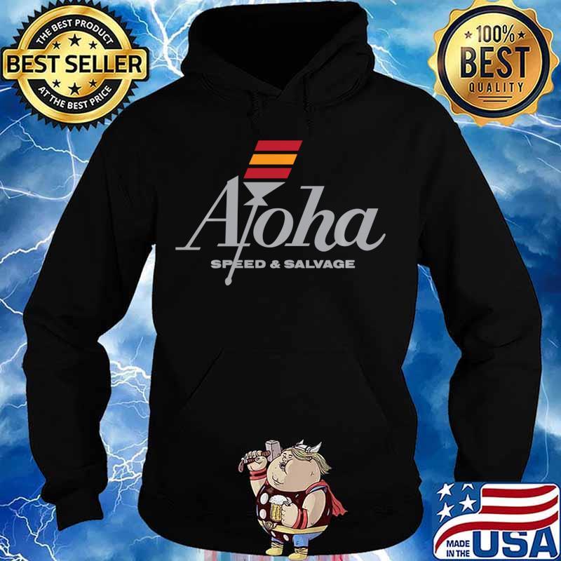 Aloha Speed and Salvage Kahili Shop Logo Gray Shirt Hoodie