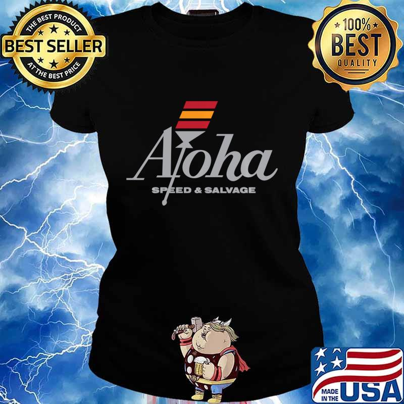 Aloha Speed and Salvage Kahili Shop Logo Gray Shirt Ladies tee