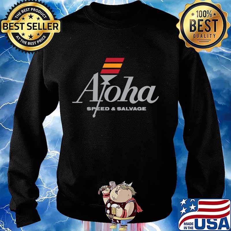 Aloha Speed and Salvage Kahili Shop Logo Gray Shirt Sweater