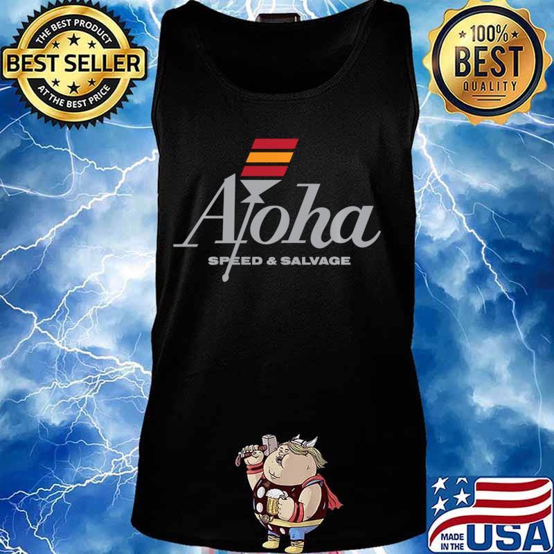 Aloha Speed and Salvage Kahili Shop Logo Gray Shirt Tank top