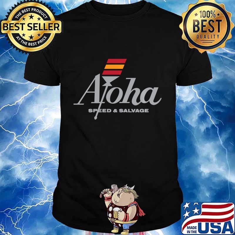 Aloha Speed and Salvage Kahili Shop Logo Gray Shirt