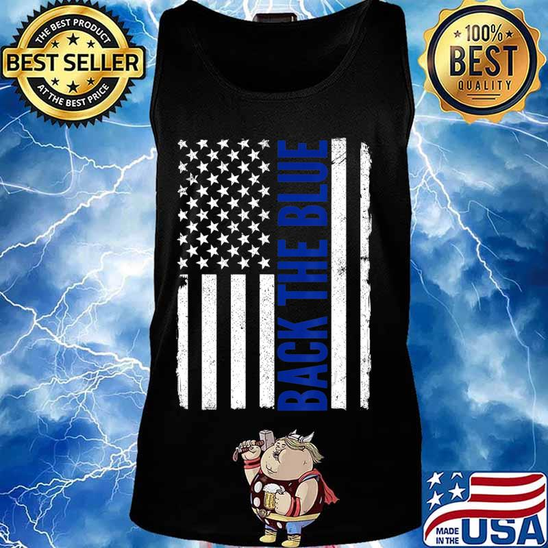 Back the Blue - Thin Blue Line Flag - Pro Police Support T-Shirt Tank top