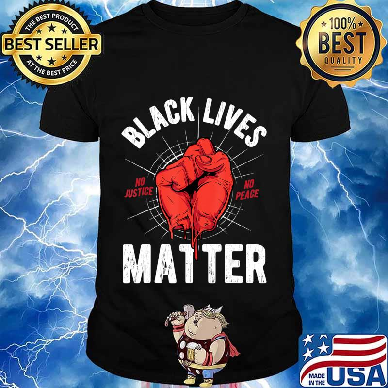 Black lives matter Heart BLM Pride Protest Fist Justice T-Shirt