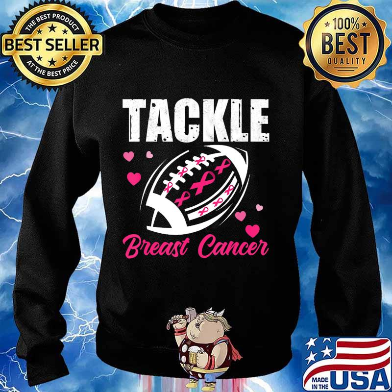 Breast Cancer Awareness Tackle Breast Cancer Football Gifts T-Shirt Sweater